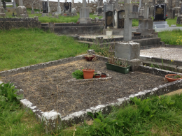 Before grave restoration