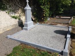 After grave restoration